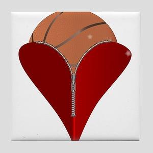 Love Basketball Tile Coaster