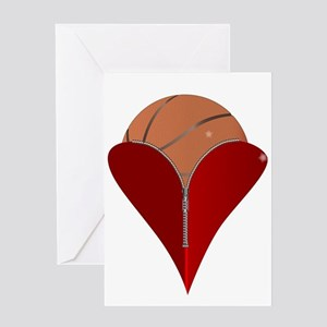 Love Basketball Greeting Cards