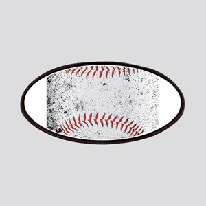 Grunge Baseball Stitches Patch
