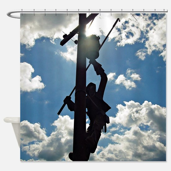 Rusty the Lineman Shower Curtain