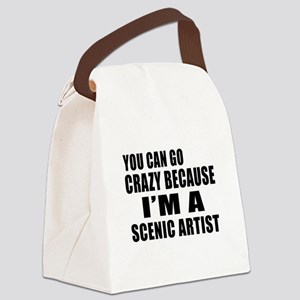 I Am Scenic artist Canvas Lunch Bag