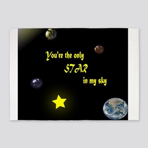 You are the only star in my sky 5'x7'Area Rug