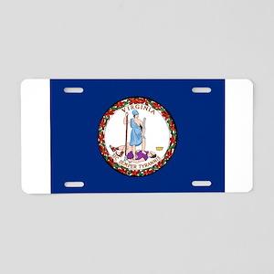 Flag of Virginia Aluminum License Plate