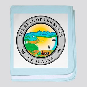 Seal of the state of Alaska baby blanket