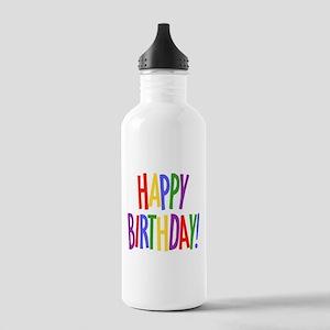 happy birthday Water Bottle