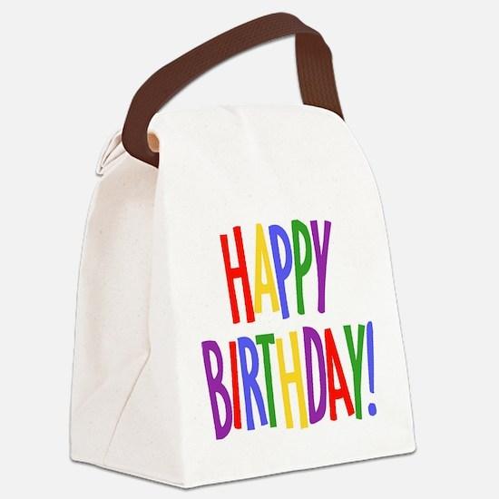 happy birthday.jpg Canvas Lunch Bag