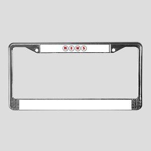 NEWS License Plate Frame