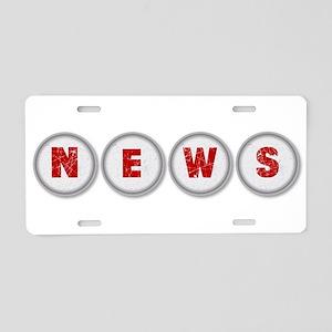 NEWS Aluminum License Plate