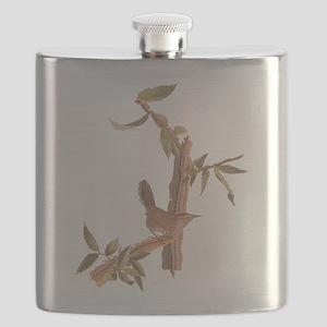 Bewick's Wren Audubon Vintage Art Flask