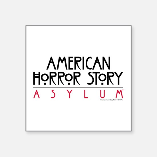 "Ahs Asylum Square Sticker 3"" X 3"""