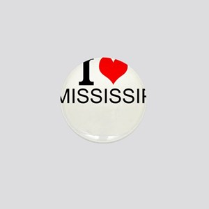 I Love Mississippi Mini Button