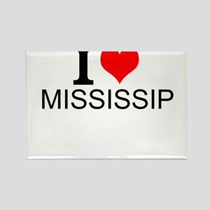 I Love Mississippi Magnets