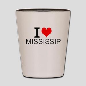 I Love Mississippi Shot Glass