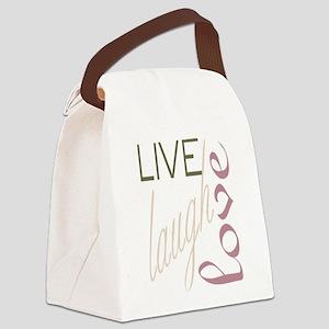 livelaughlove Canvas Lunch Bag