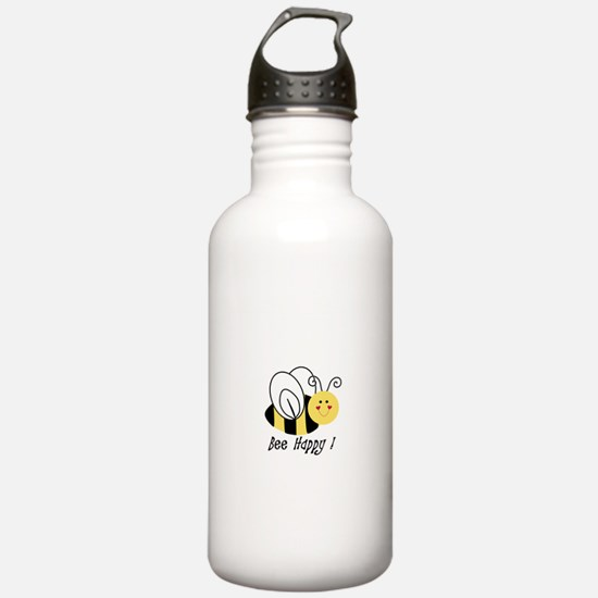 bee happy.jpg Water Bottle