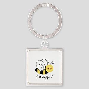bee happy Keychains