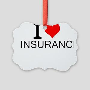 I Love Insurance Ornament