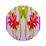 ORCHIDS Round Ornament