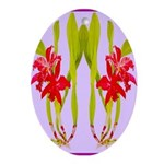 ORCHIDS Oval Ornament