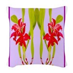 ORCHIDS Woven Throw Pillow