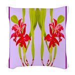 ORCHIDS Woven Throw Pillow