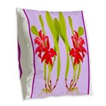 ORCHIDS Burlap Throw Pillow