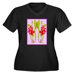 ORCHIDS Plus Size T-Shirt
