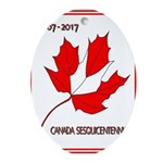 Canada, Sesquicentennial Celebration Oval Ornament