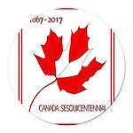 Canada, Sesquicentennial Celebration Round Car Mag