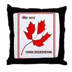 Canada, Sesquicentennial Celebration Throw Pillow