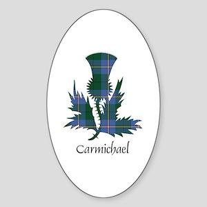 Thistle - Carmichael Sticker (Oval)
