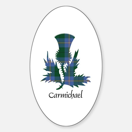 Thistle - Carmichael Sticker (Oval)