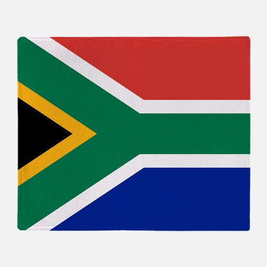 Cute South africa flag Throw Blanket