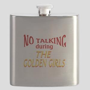 No Talking During Golden Girls Flask