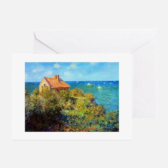 Claude Monet Fisherman Cottage Greeting Cards