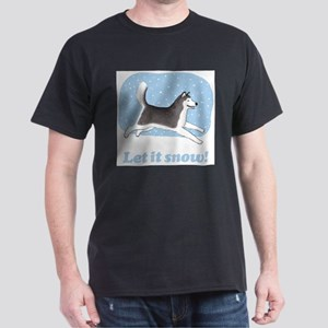 Siberian Husky Let it Snow T-Shirt