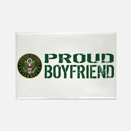 U.S. Army: Proud Boyfriend (Green Rectangle Magnet