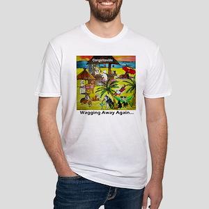 Corgiritaville - Wagging away again... T-Shirt