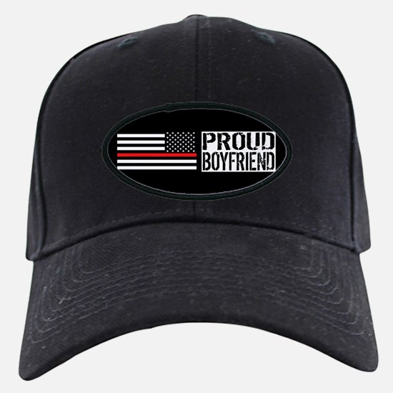 Firefighter: Proud Boyfriend (Black Flag Baseball Hat