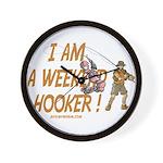 Weekend Hooker Wall Clock