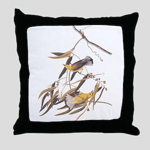 Prothonotary Warbler Audubon Birds Throw Pillow