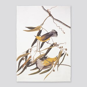 Prothonotary Warbler Audubon Birds 5'x7'Area Rug