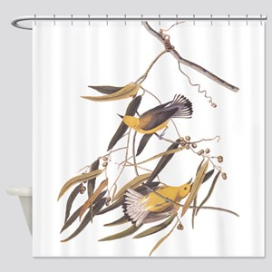 Prothonotary Warbler Audubon Birds Shower Curtain