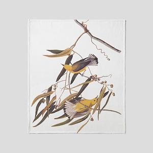 Prothonotary Warbler Audubon Birds Throw Blanket