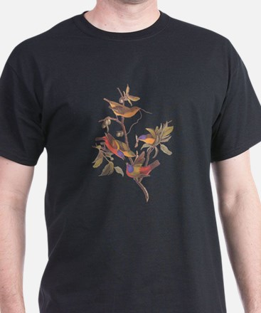 Painted Bunting Birds in Wild Olive Tree T-Shirt