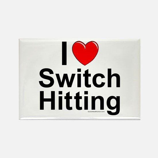 Switch Hitting Rectangle Magnet
