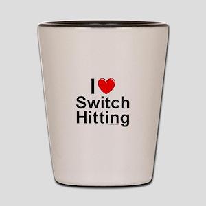 Switch Hitting Shot Glass