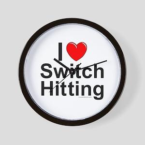 Switch Hitting Wall Clock