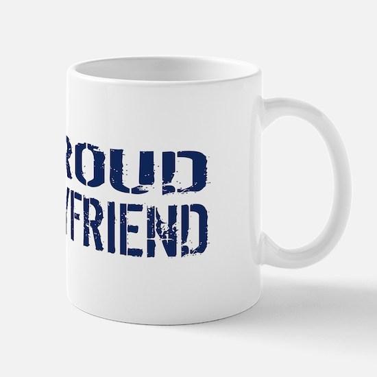 U.S. Navy: Proud Boyfriend (Blue & Whit Mug