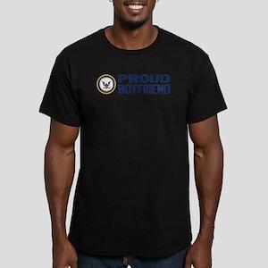 U.S. Navy: Proud Boyfr Men's Fitted T-Shirt (dark)